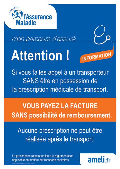 Prescription médicale de transport obligatoire